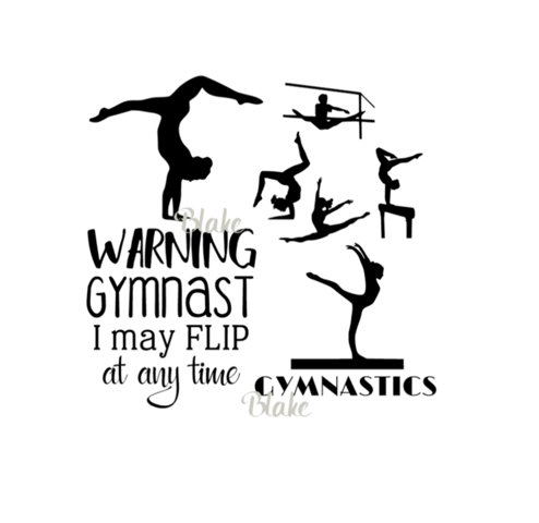 Gymnastics quote svg female gymnast collection bundle CUT file for Silhouette Wall Decal Vinyl svg Girls bedroom decor designs svg, tumbling