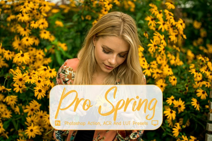 15 Pro Spring Photoshop Actions, ACR, LUT Presets