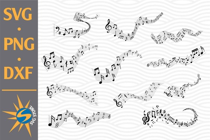 Music Note SVG, PNG, DXF Digital Files Include