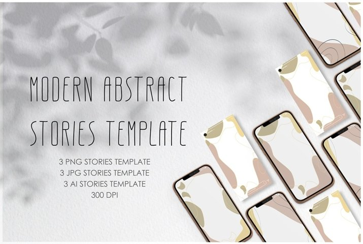Modern abstract Instagram stories template