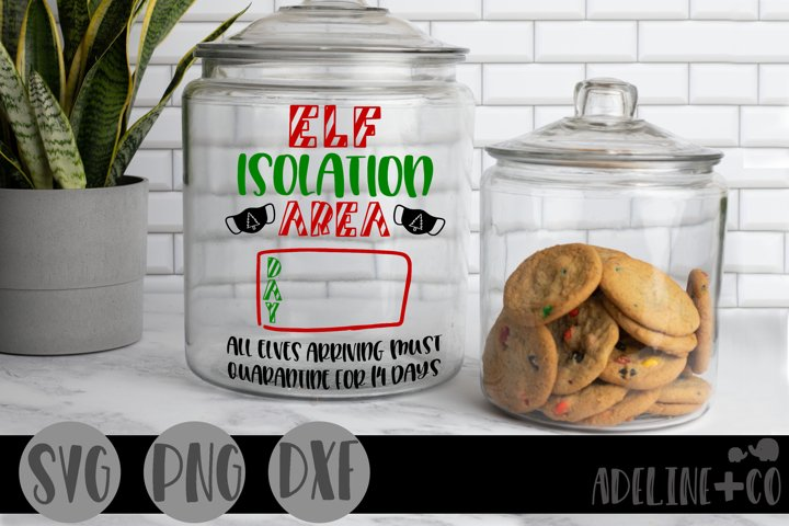 Elf isolation jar, Christmas
