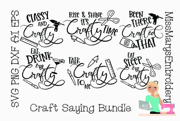 Crafty Saying Bundle SVG | Crafting SVG | SVG Bundle