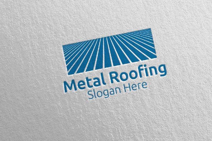 Real Estate Metal Roofing Logo 3