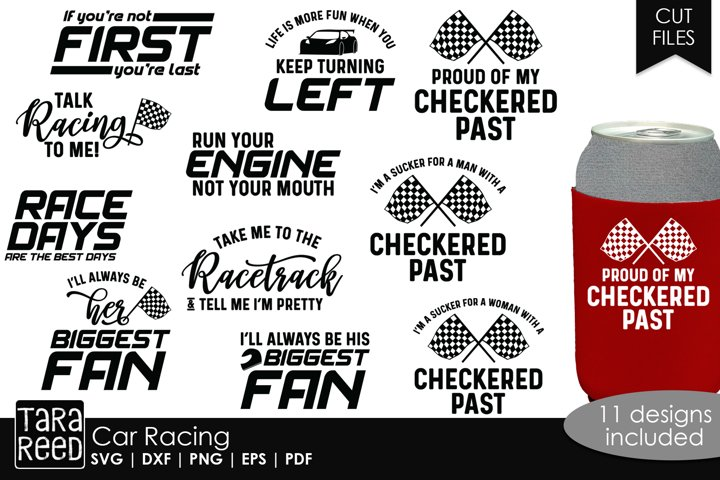 Car Racing - SVG and Cut Files for Crafters