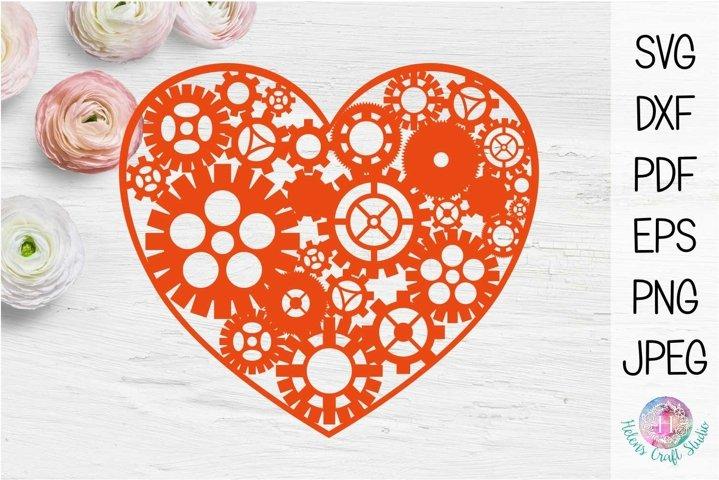 Steampunk valentines heart