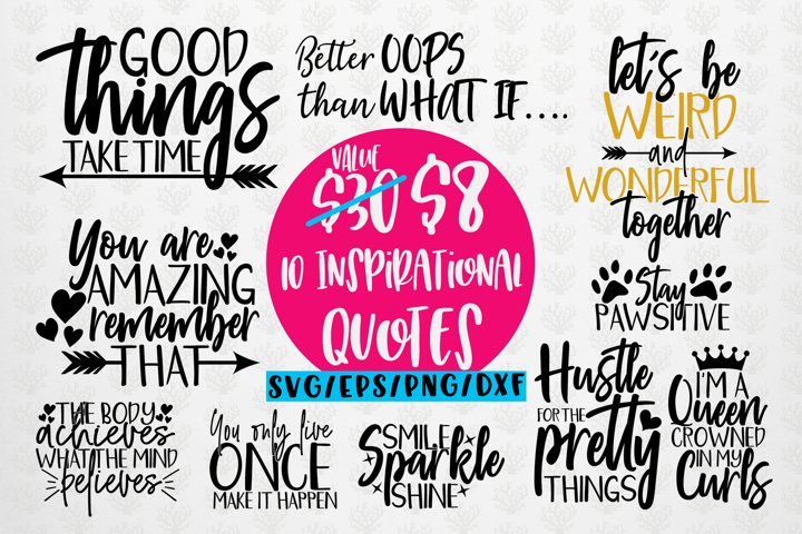 Inspirational Quotes Bundle - SVG EPS DXF PNG
