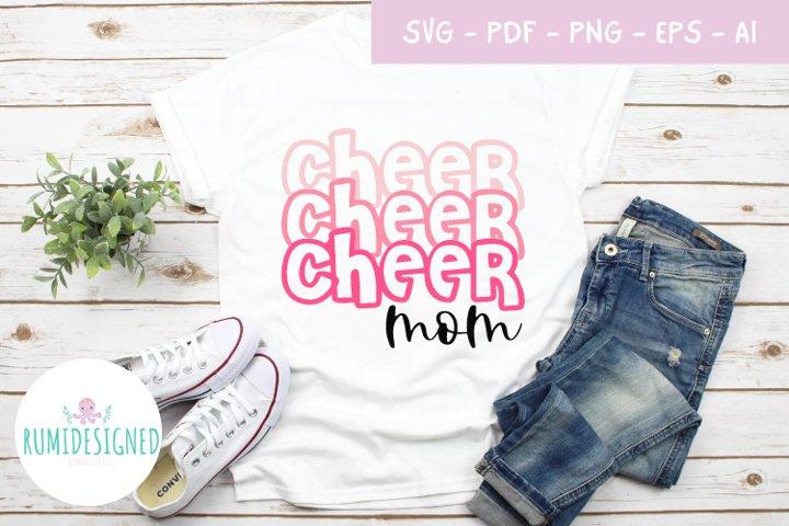 Cheer Mom Cheer Mum svg cut file
