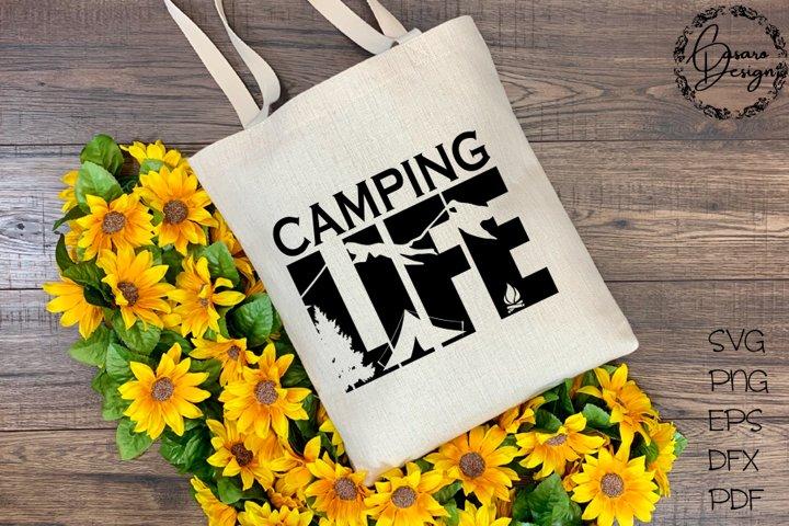 Camping Life Design, SVG, PNG, ETC
