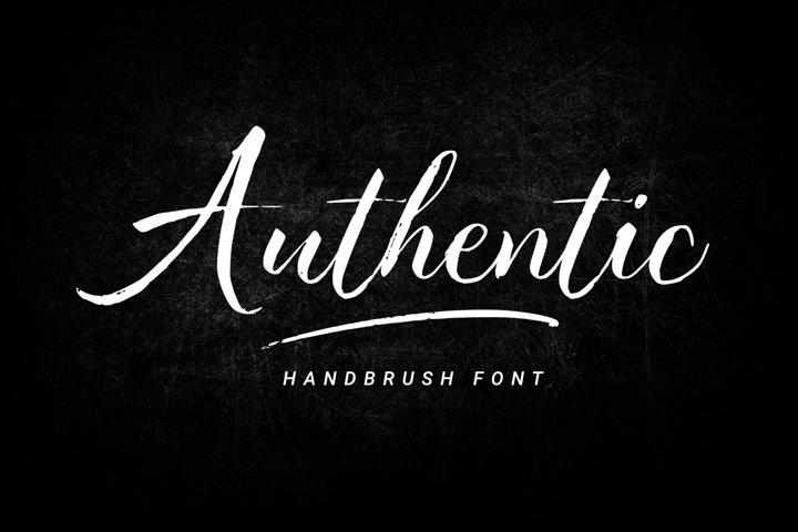 Authentic - Hand brush Font