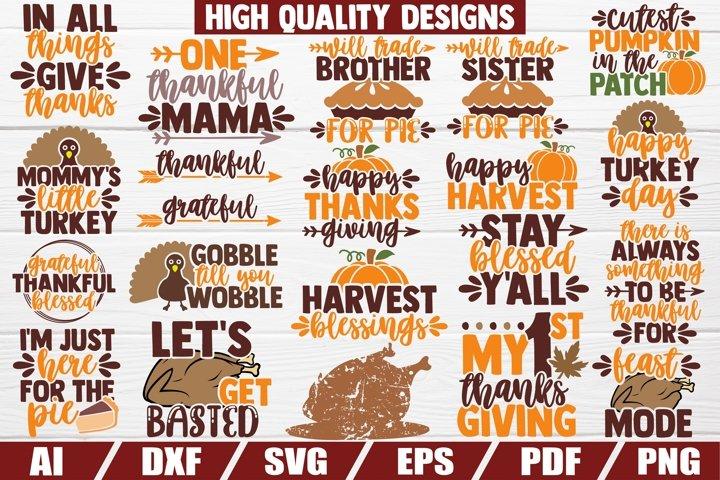 Thanksgiving Bundle SVG - sayings - quotes - decor - print