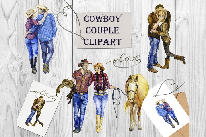 Western png, Couple Clipart, Valentine png, Cowboy png