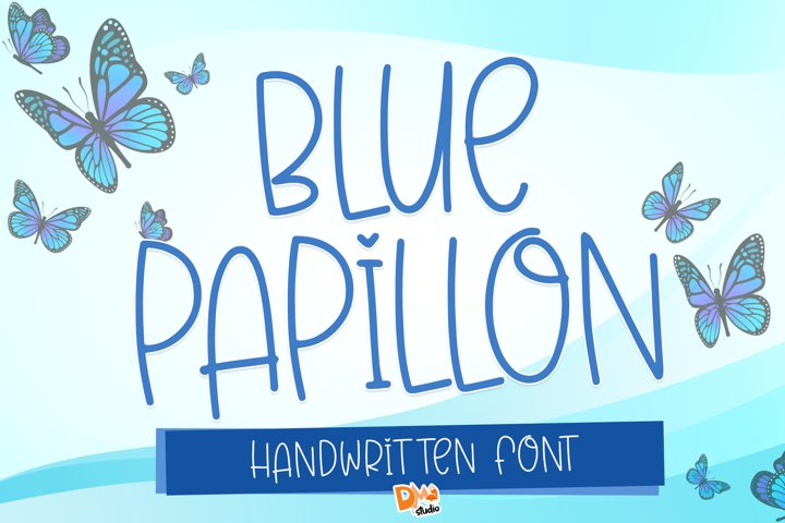 Blue Papillon - Cute Handwritten Font