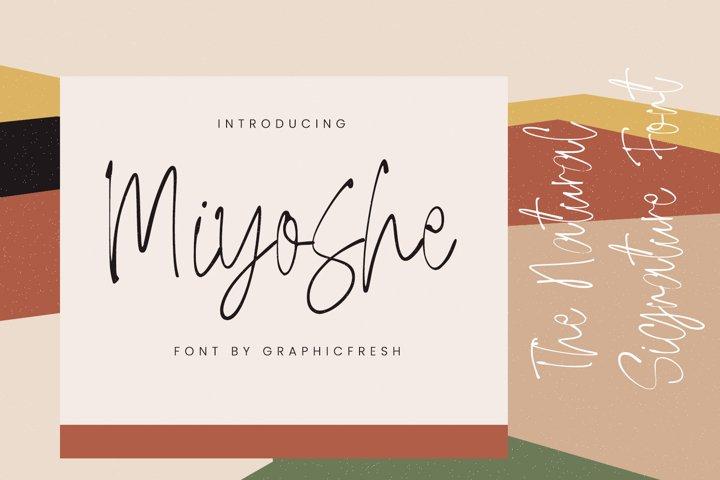 Miyoshe - The Natural Signature Font