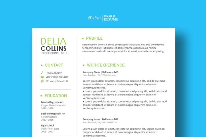 Resume Template | Cover Letter | Reference Page 2021