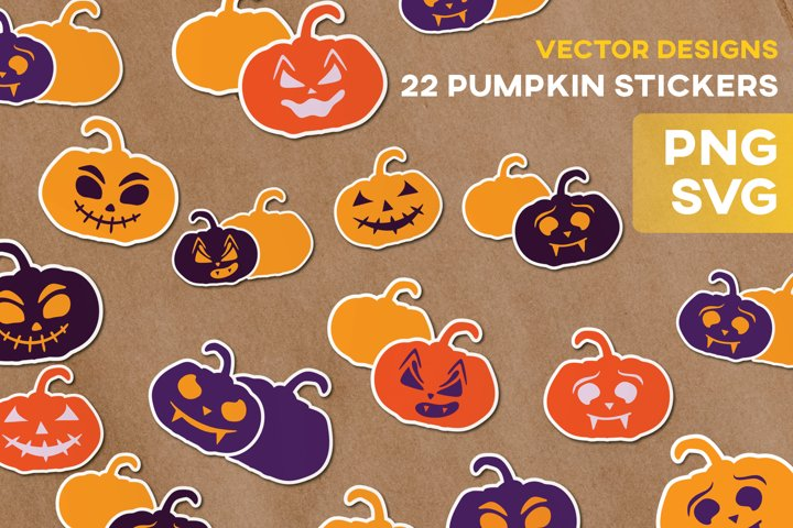 Halloween Pumpkin Fall SVG Sticker Sublimation Labels Cricut