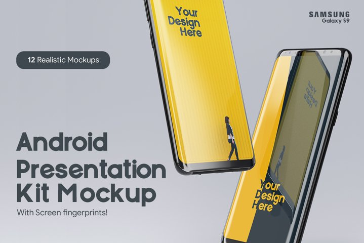 Samsung Galaxy S9 Presentation mockup Kit