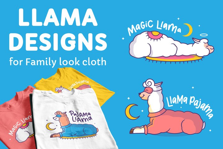 Magic Llamas. Apparel designs