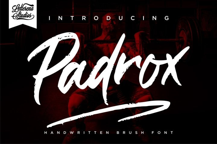 Padrox - Handwritten Brush Font