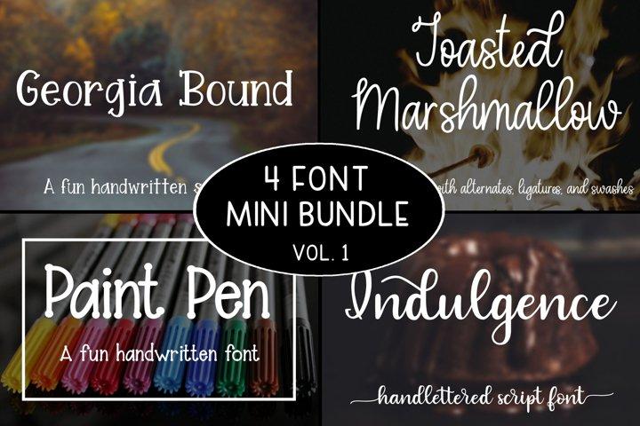 4 Font Mini Bundle - Volume 1