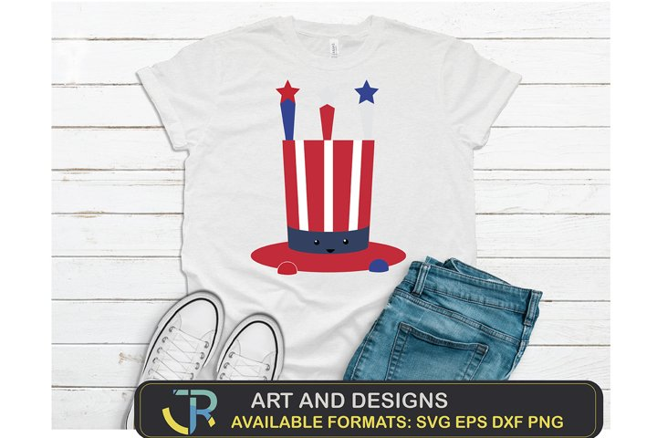 4th of July hat harSVG