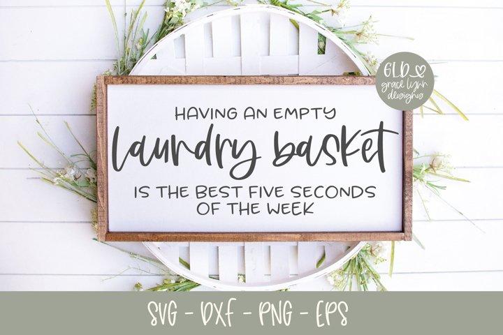 Having An Empty Laundry Basket - SVG
