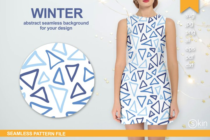 Seamless pattern with abstract triangle print in vector, svg