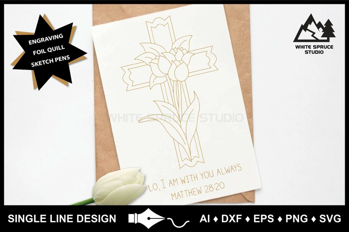 Single Line Design, Foil Quill, Engraving, Inspirational SVG