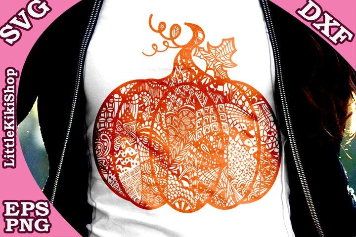 Zentangle Pumpkin, Pumpkin Svg, MANDALA PUMPKIN SVG, Thanksg