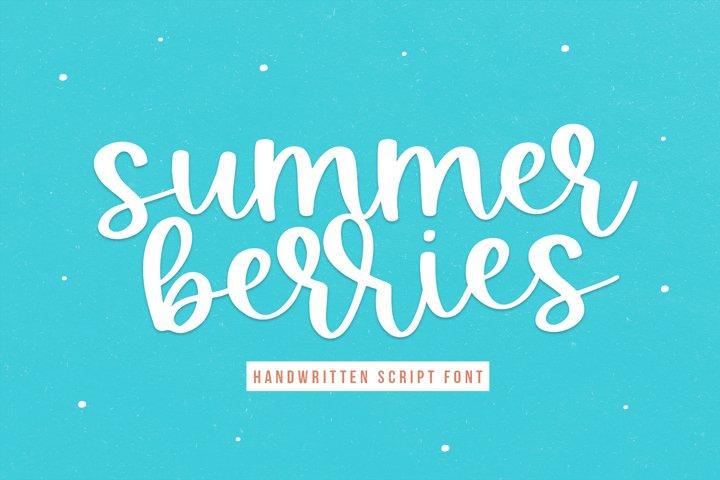 Summer Berries - Handwritten Script Font