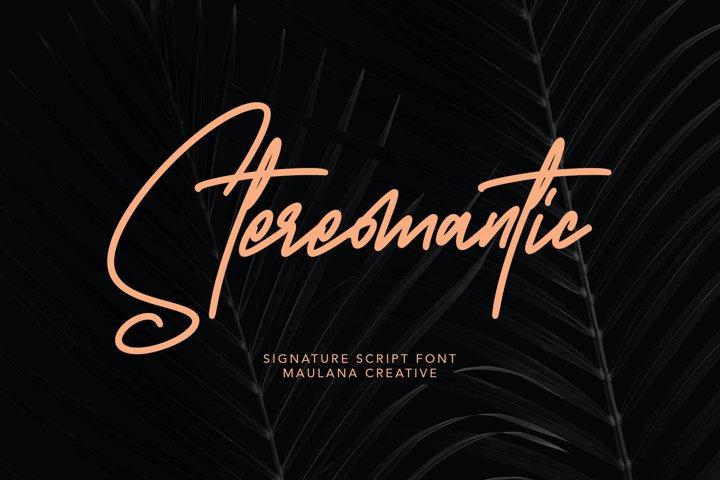 Stereomantic Signature Brush Font