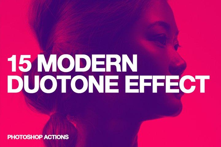 15 Modern Colors Duotone Effect Action