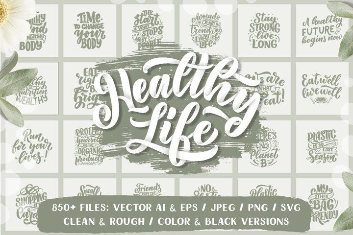 Healthy Life Lettering Set