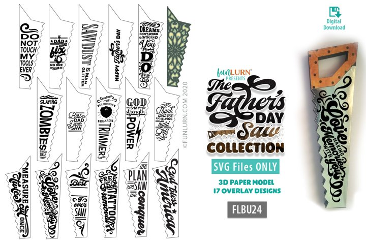 The Fathers Day Saw Collection | 3D Saw Paper Model Art