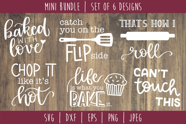 Kitchen Cooking Bundle Set of 6 - SVG