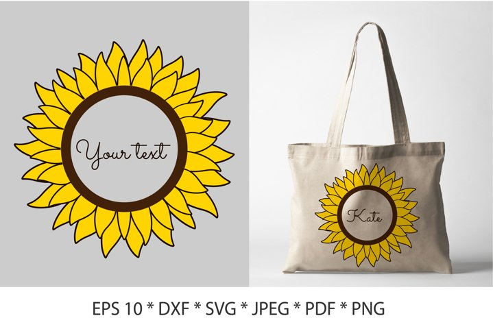 Sunflower SVG. Sunflower frames