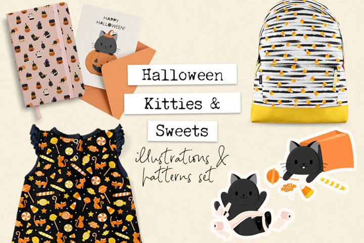 Halloween Kitties & Candy
