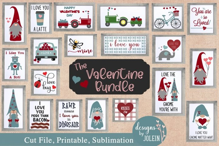 The Valentine Bundle SVG, Sublimation, Printable