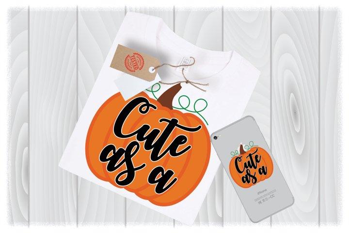 Cute as a Pumpkin SVG Files for Cricut Designs|Thanksgiving