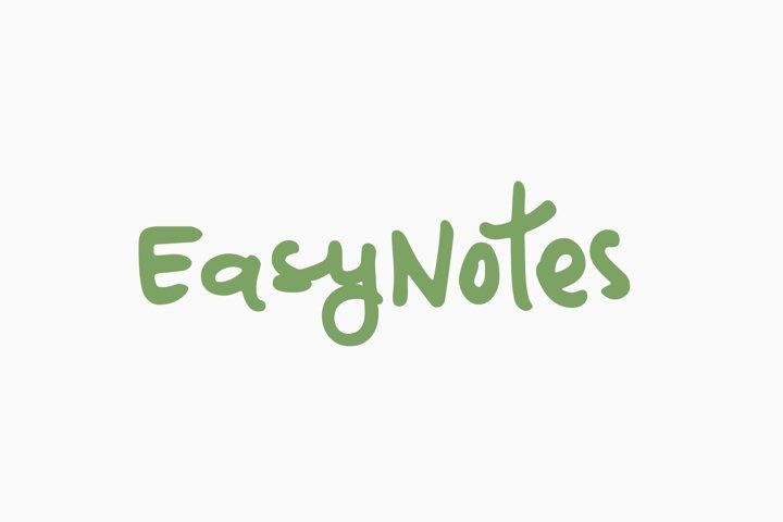 EasyNotes | A Casual Handwritten Font