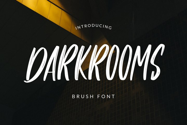 Darkrooms Brushed Font