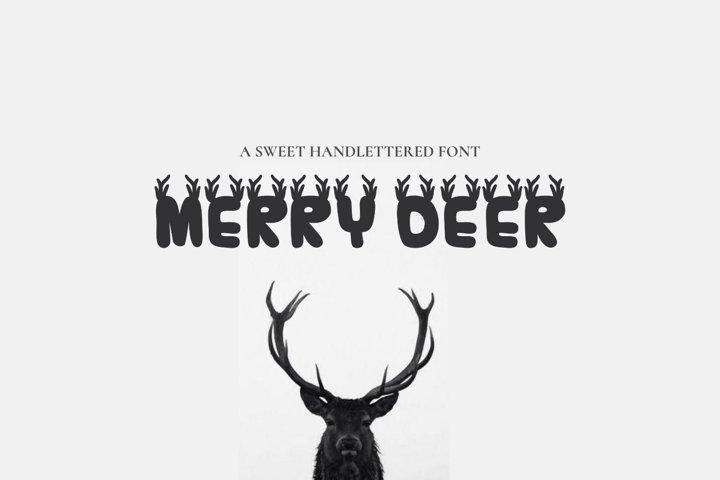 MerryDeer - Christmas font