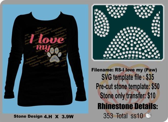 Rhinestone Design- I love my