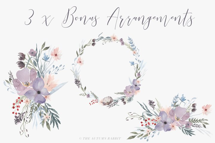 Watercolor Floral Clipart - Hazy Fields - Free Design of The Week Design1