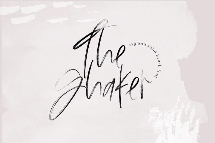 The Shaker - SVG & Regular OTF Brush Font