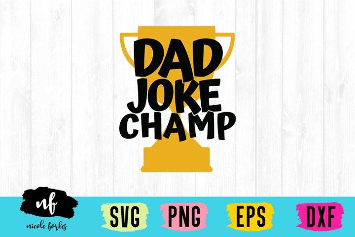 Dad Joke Champ SVG