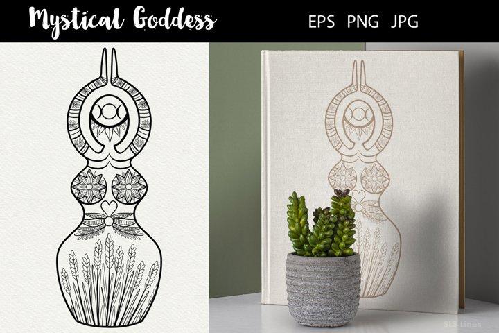 Mystical Goddess Illustration EPS PNG