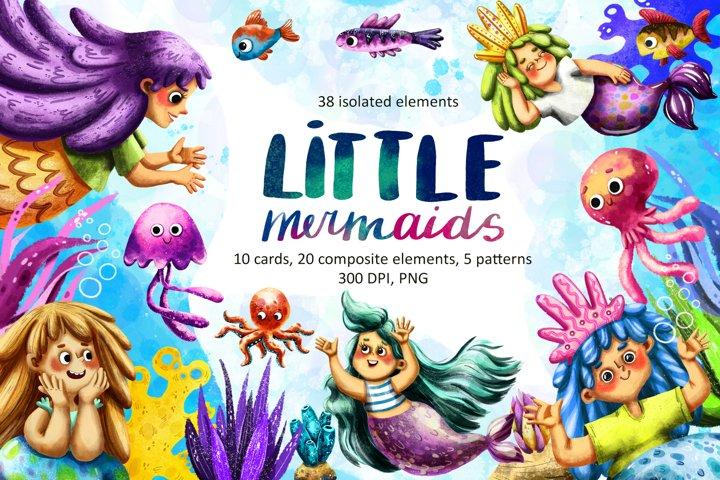 Little Mermaids - Clip Art Set