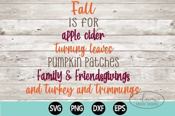 Fall Apple Cider Turning Leaves Pumpkin Patch SVG PNG DXF