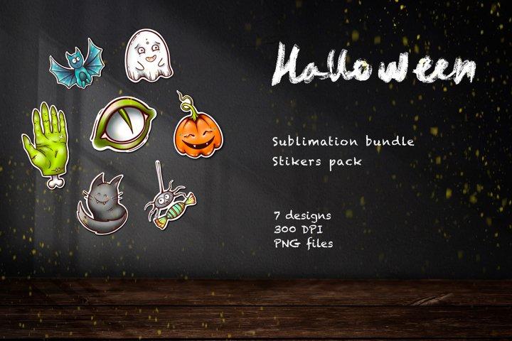 Sublimation Halloween bundle Cute Halloween sticker pack