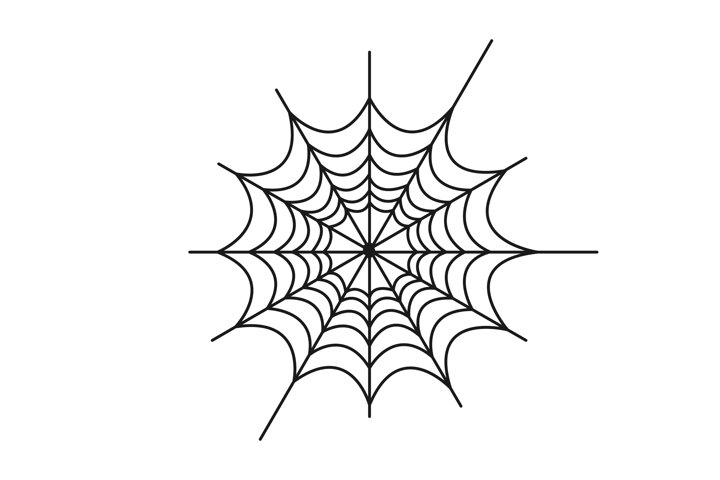 Creepy spider web vector illustration